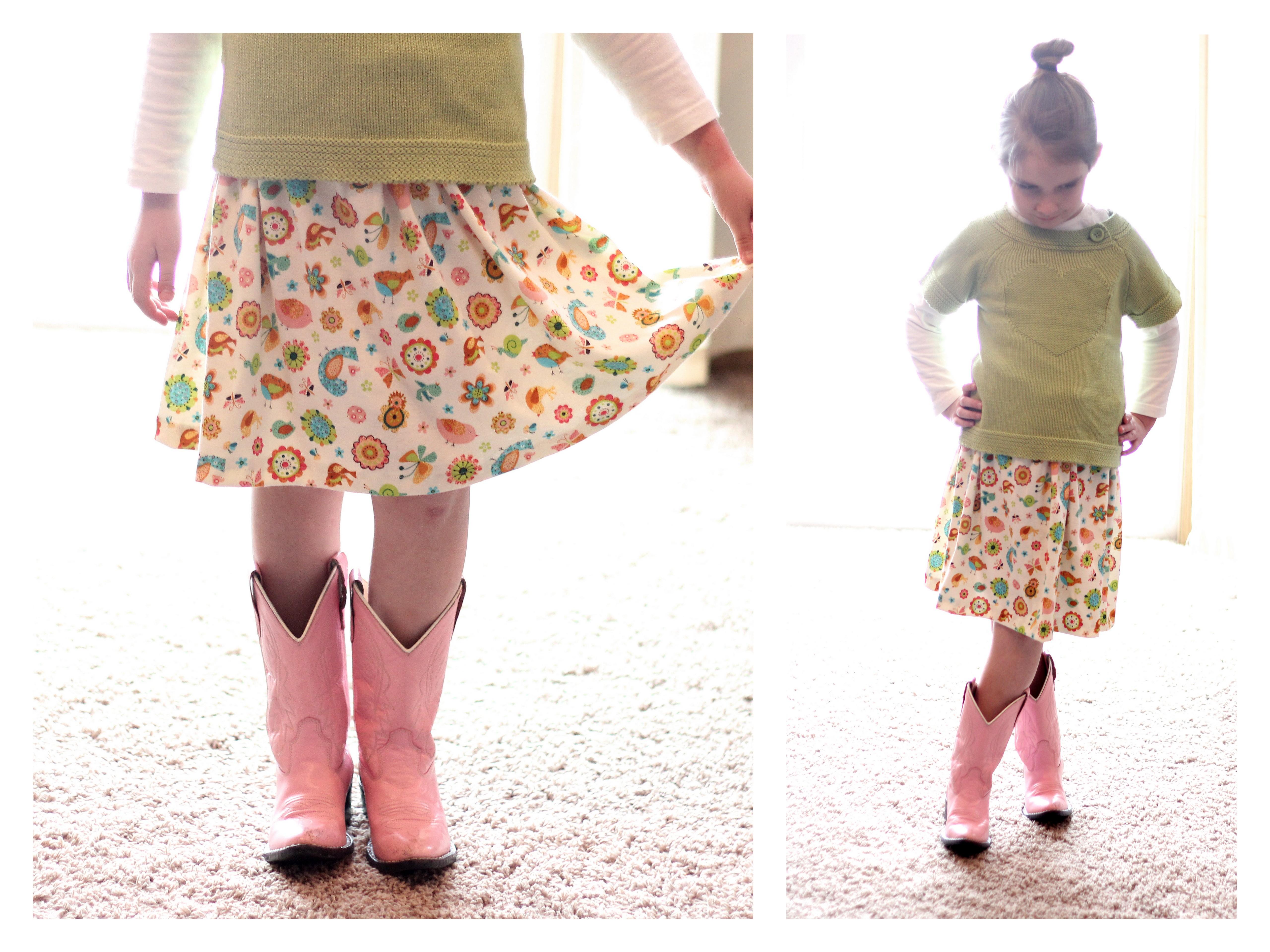Child\'s Skirt Tutorial for Sewing BEGINNERS! :) | emily jones ...