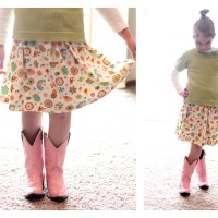 Child's Skirt Tutorial for Sewing BEGINNERS! :)