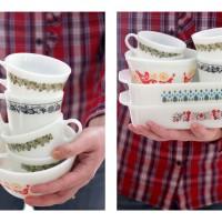 DIY Vintage Pyrex Candle Love