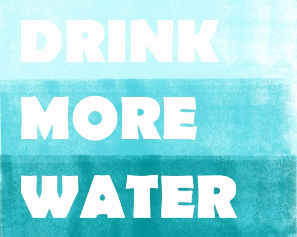 DrinkMoreWater, 10x8 horizontal digital print, CoupleJones.com