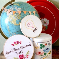 Embroidery for Slackers and Free Light Bulb pattern